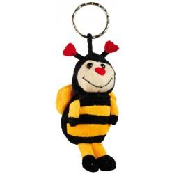Porte clé abeille en peluche