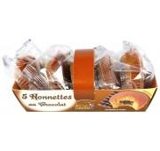 Barquette de 5 nonnettes au chocolat