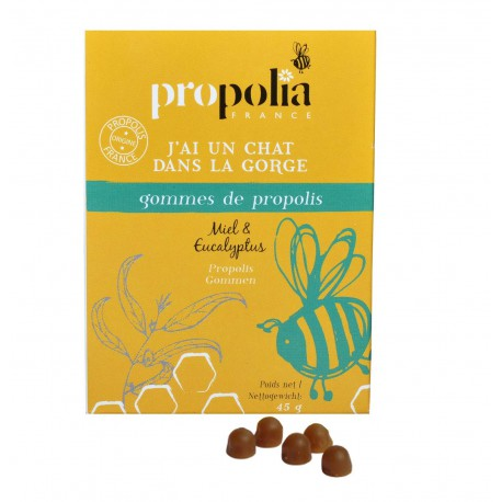 Gommes de Propolis Miel et Eucalyptus Propolia