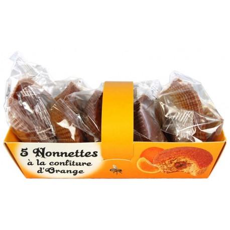 Barquette de 5 nonnettes à la confiture d'orange