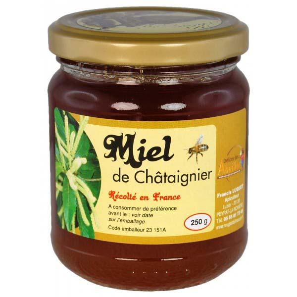 Miel artisanal de chataignier produit en France