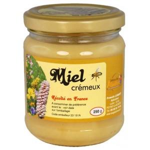 Miel de fleurs crémeux produit en Creuse_Délices des Abeilles