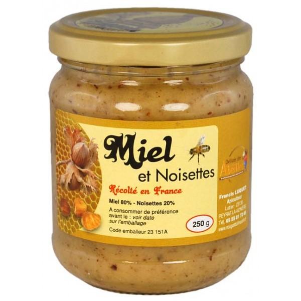 Miel et noisettes produit en Creuse_Délices des Abeilles